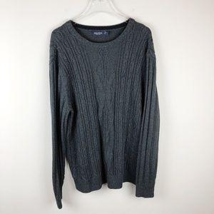 Nautica Seafarer Gray Cableknit Sweater (XL)